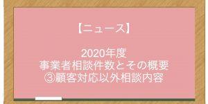 【ニュース】2020年度 事業者相談件数とその概要 ③顧客対応以外相談内容