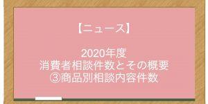 【ニュース】2020年度 消費者相談件数とその概要 ③商品別相談内容件数
